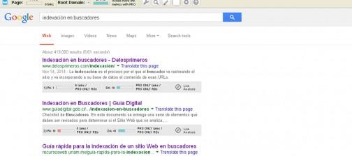 Indexación en buscadores